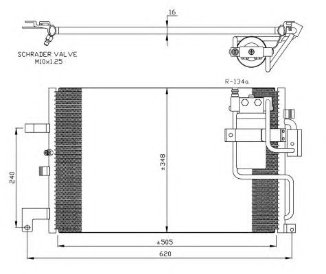 Радиатор кондиционера NRF 35299