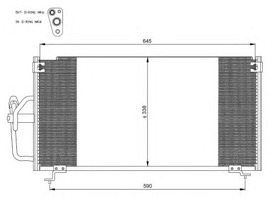 Радиатор кондиционера NRF 35358