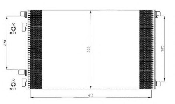 Радиатор кондиционера NRF 35449