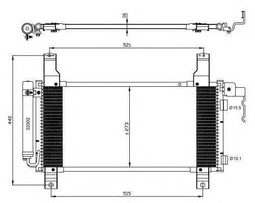Радиатор кондиционера NRF 35464
