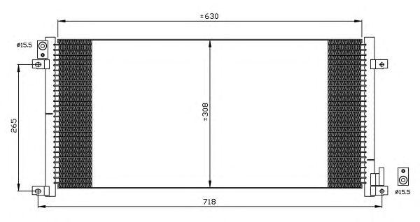 Радиатор кондиционера NRF 35491