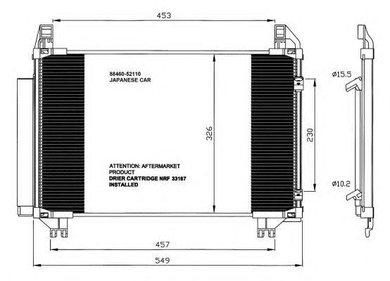 Радиатор кондиционера NRF 35652