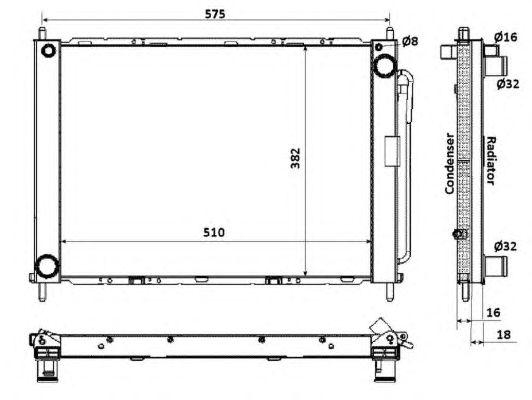 Радиатор кондиционера NRF 35886