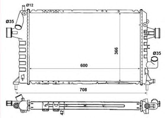 Радиатор, охлаждение двигателя NRF 506616