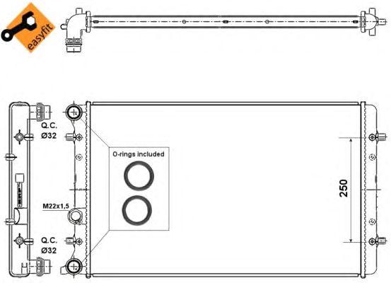 Радиатор, охлаждение двигателя NRF 509529