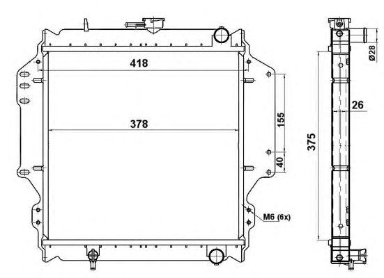 Радиатор, охлаждение двигателя NRF 513161