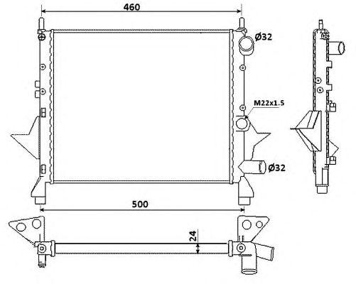 Радиатор, охлаждение двигателя NRF 519513