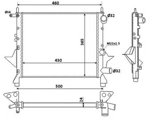 Радиатор, охлаждение двигателя NRF 529513