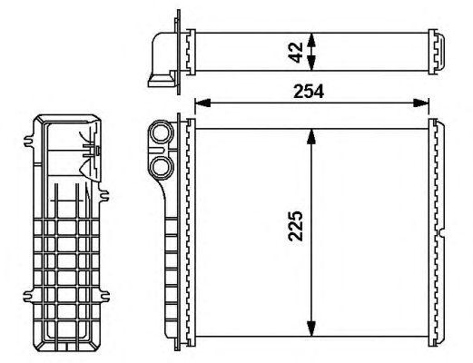 Радиатор отопителя NRF 54239
