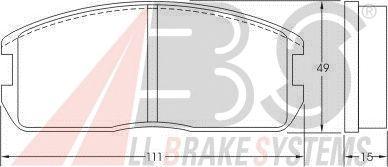 Тормозные колодки A.B.S. 36178