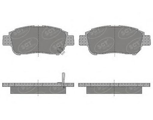 Тормозные колодки SCT Germany SP 601