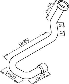 Труба выхлопного газа DINEX 68211