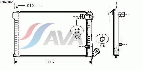 Радиатор, охлаждение двигателя AVA QUALITY COOLING CNA2102