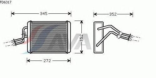 Радиатор отопителя AVA QUALITY COOLING FD6317