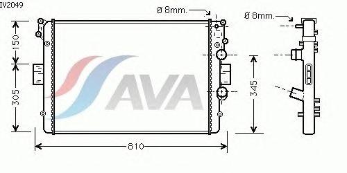 Радиатор, охлаждение двигателя AVA QUALITY COOLING IV2049