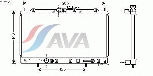 Радиатор, охлаждение двигателя AVA QUALITY COOLING MT2123