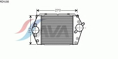 Интеркулер AVA QUALITY COOLING MZ4188