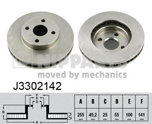 Тормозной диск NIPPARTS J3302142