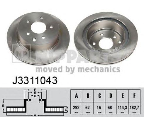 Тормозной диск NIPPARTS J3311043