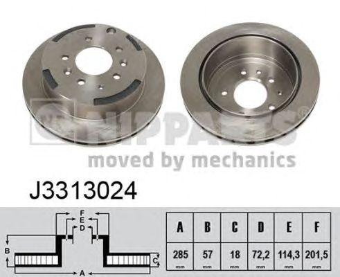 Тормозной диск NIPPARTS J3313024