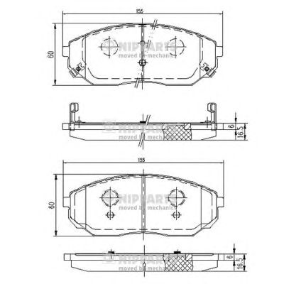 Тормозные колодки NIPPARTS J3600318