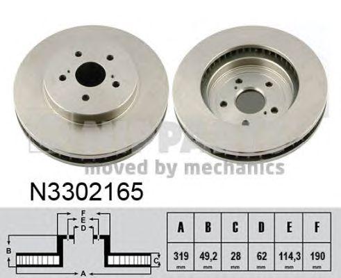 Тормозной диск NIPPARTS N3302165