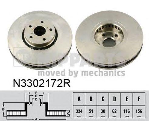 Тормозной диск NIPPARTS N3302172R