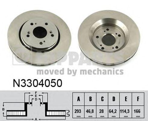 Тормозной диск NIPPARTS N3304050