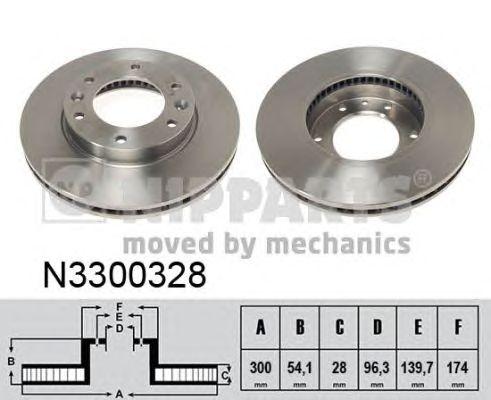 Тормозной диск NIPPARTS N3300328