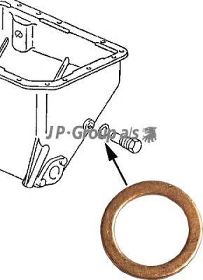 Прокладка сливной пробки JP GROUP 8113850100