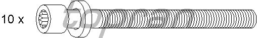 Комплект болтов головки блока цилиндров (ГБЦ) TOPRAN 109 545