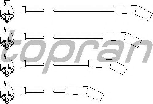 Комплект высоковольтных проводов TOPRAN 302 048
