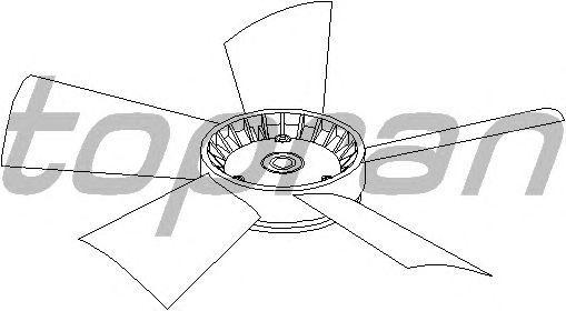 Крыльчатка вентилятора охлаждения TOPRAN 401 191