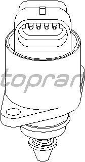 Поворотная заслонка, подвод воздуха TOPRAN 206 167