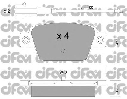 Тормозные колодки CIFAM 822-323-1