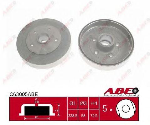 Тормозной барабан ABE C63005ABE