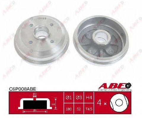 Тормозной барабан ABE C6P008ABE