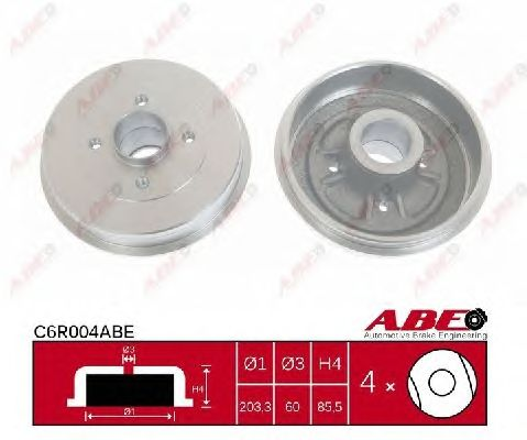 Тормозной барабан ABE C6R004ABE