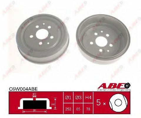 Тормозной барабан ABE C6W004ABE