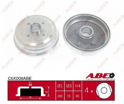 Тормозной барабан ABE C6X008ABE