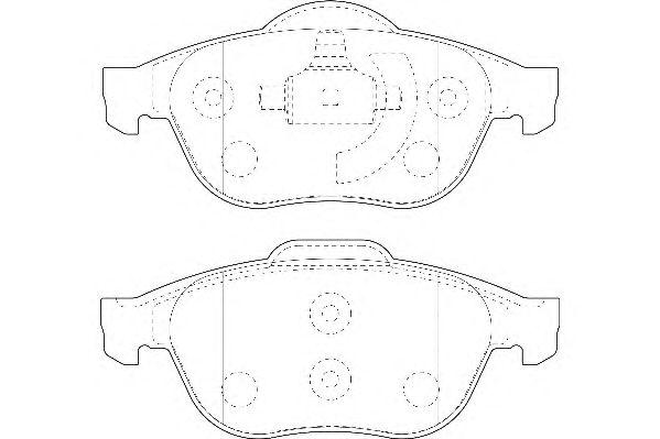Тормозные колодки WAGNER WBP23245A
