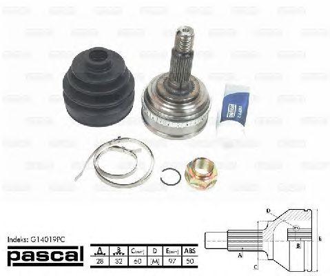 Комплект ШРУСов PASCAL G14019PC