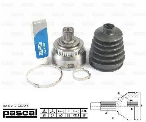 Комплект ШРУСов PASCAL G1G020PC