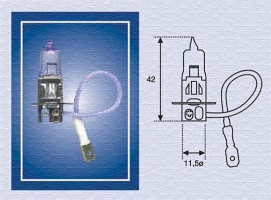 Лампа накаливания MAGNETI MARELLI 002564100000 (фара рабочего освещения, фара дальнего света, основная фара, противотуманная фара, прожектор-искатель)
