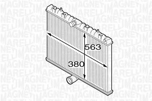 Радиатор, охлаждение двигателя MAGNETI MARELLI 350213127300