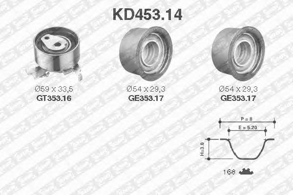 Комплект ремня ГРМ SNR KD453.14