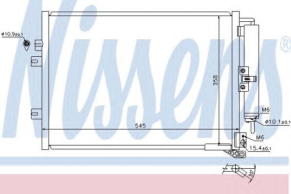 Радиатор кондиционера NISSENS 940142