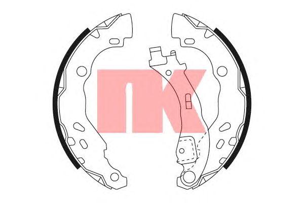 Тормозные колодки NK 2723711