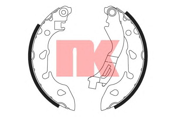 Тормозные колодки NK 2723810