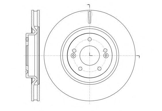 Тормозной диск REMSA 61436.10